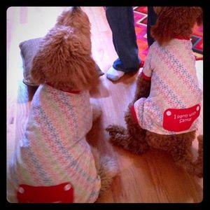 Dog Pajamas. Pjs, Christmas. Pet clothes